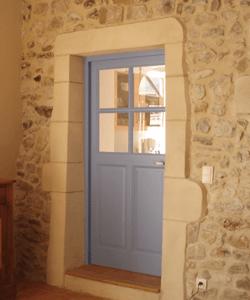 huisserie de porte en bois