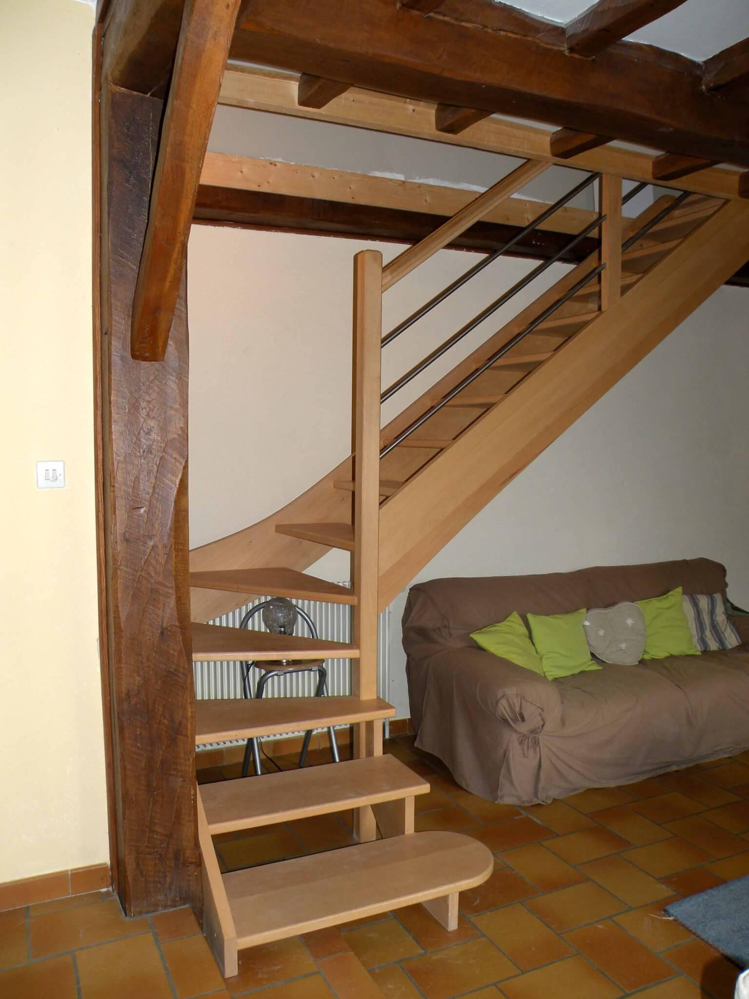 Escalier angle Chomérac