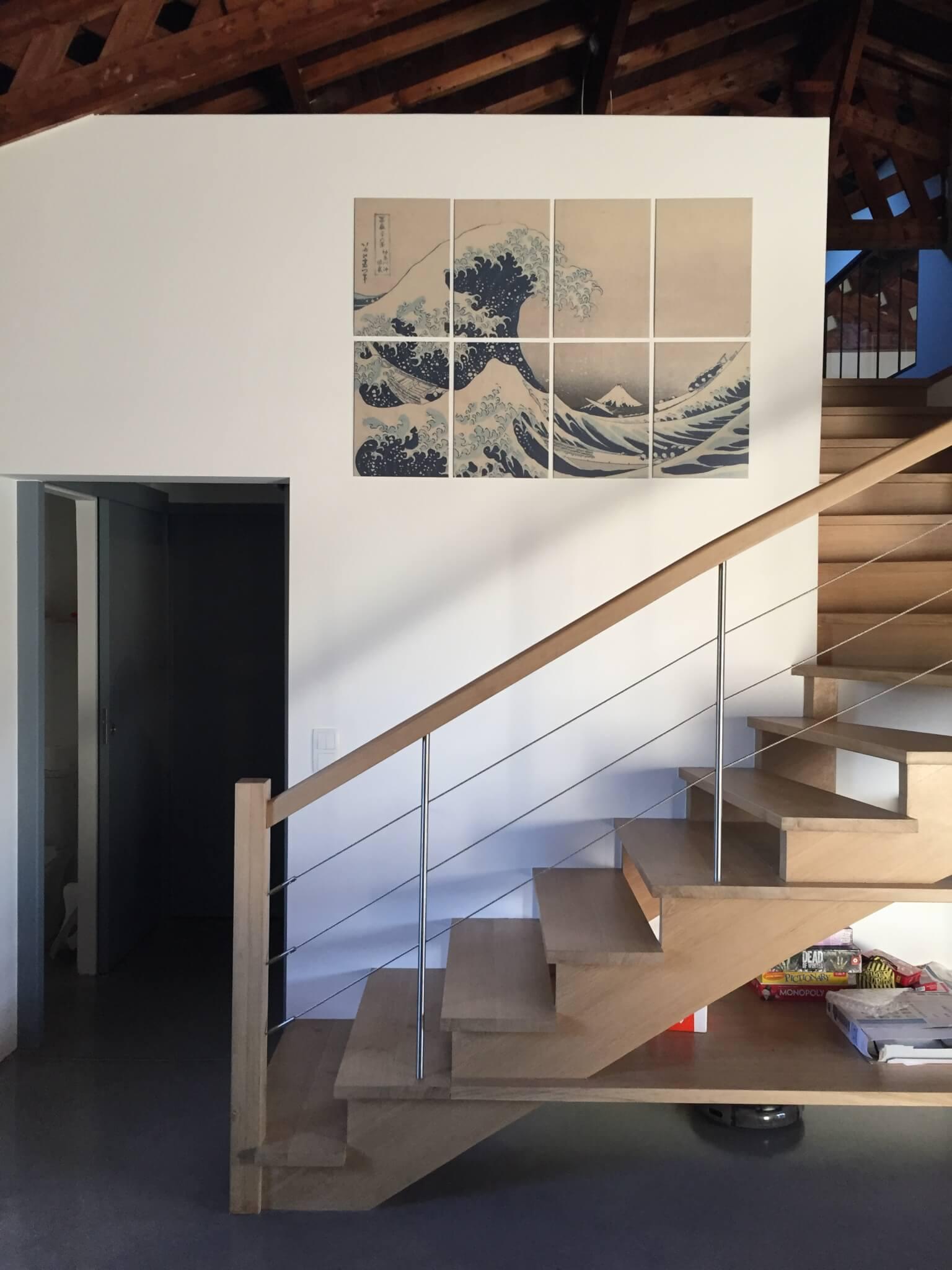 Escalier avec étagère Romans
